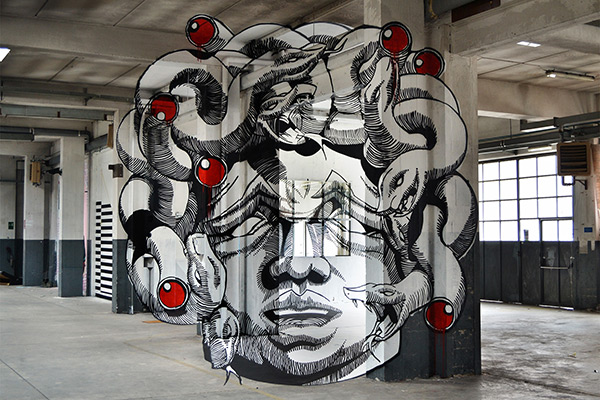 Truly 3D Graffiti and Anamorphic Art